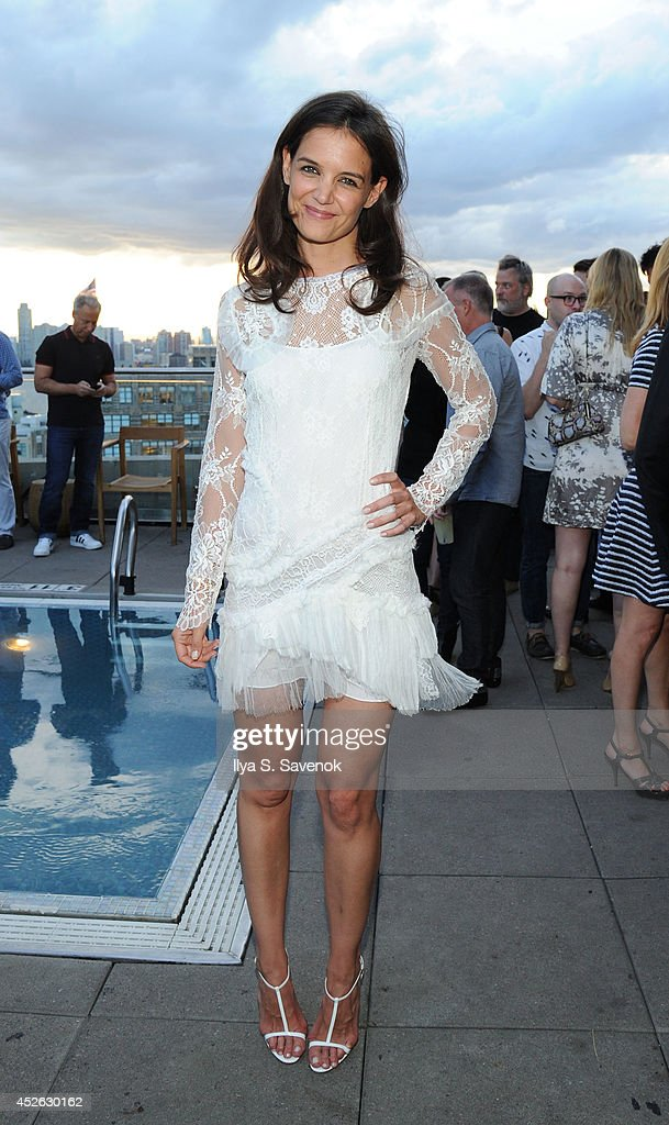 Actress <a gi-track='captionPersonalityLinkClicked' href=/galleries/search?phrase=Katie+Holmes&family=editorial&specificpeople=201598 ng-click='$event.stopPropagation()'>Katie Holmes</a> attends the ASP - The World Surf League cocktail party at The Jimmy at the James Hotel on July 24, 2014 in New York City.