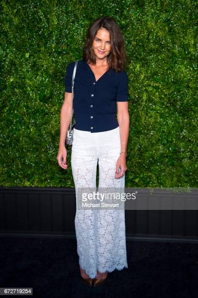 Actress Katie Holmes attends the Chanel Artists Dinner during the 2017 Tribeca Film Festival on April 24 2017 in New York City