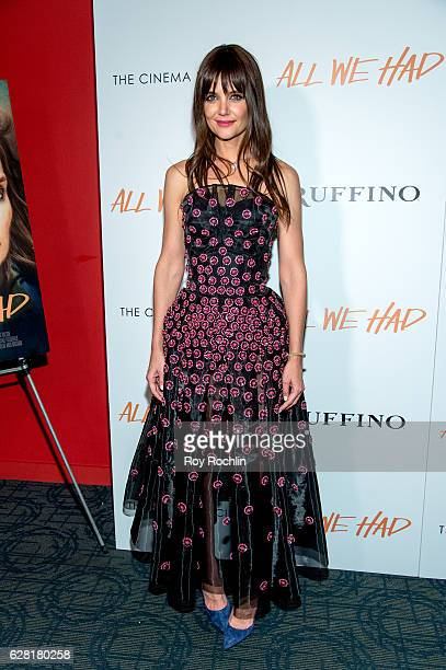 Actress Katie Holmes attends The Cinema Society Ruffino Host A screening of 'All We Had' at Landmark Sunshine Cinema on December 6 2016 in New York...
