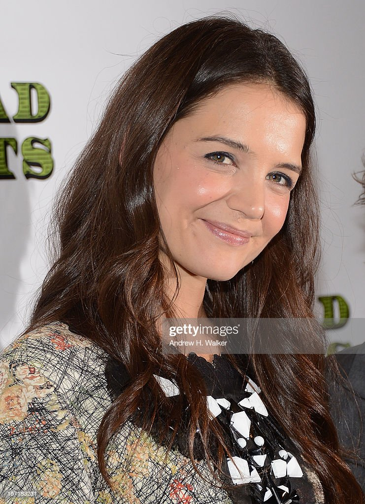 Actress Katie Holmes attends the 'Dead Accounts' Broadway opening night after party at Gotham Hall on November 29, 2012 in New York City.