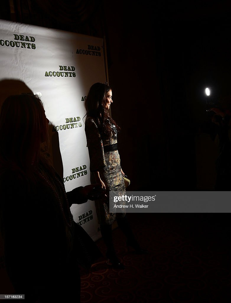 Actress <a gi-track='captionPersonalityLinkClicked' href=/galleries/search?phrase=Katie+Holmes&family=editorial&specificpeople=201598 ng-click='$event.stopPropagation()'>Katie Holmes</a> attends the 'Dead Accounts' Broadway opening night after party at Gotham Hall on November 29, 2012 in New York City.
