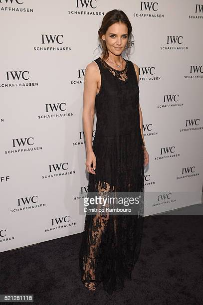 "Actress Katie Holmes attends the exclusive gala event ""For the Love of Cinema"" during the Tribeca Film Festival hosted by luxury watch manufacturer..."