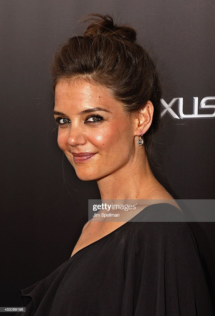Actress <a gi-track='captionPersonalityLinkClicked' href=/galleries/search?phrase=Katie+Holmes&family=editorial&specificpeople=201598 ng-click='$event.stopPropagation()'>Katie Holmes</a> attends the 'Life is Amazing' Lexus Short Films Series at SVA Theater on August 6, 2014 in New York City.