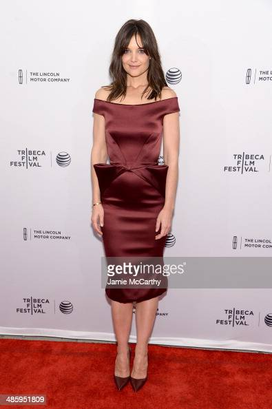 Actress Katie Holmes attends the 'Miss Meadows' Premiere during 2014 Tribeca Film Festival at the SVA Theater on April 21 2014 in New York City