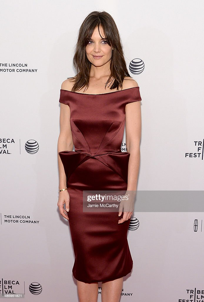 Actress Katie Holmes attends the 'Miss Meadows' Premiere during 2014 Tribeca Film Festival at the SVA Theater on April 21, 2014 in New York City.