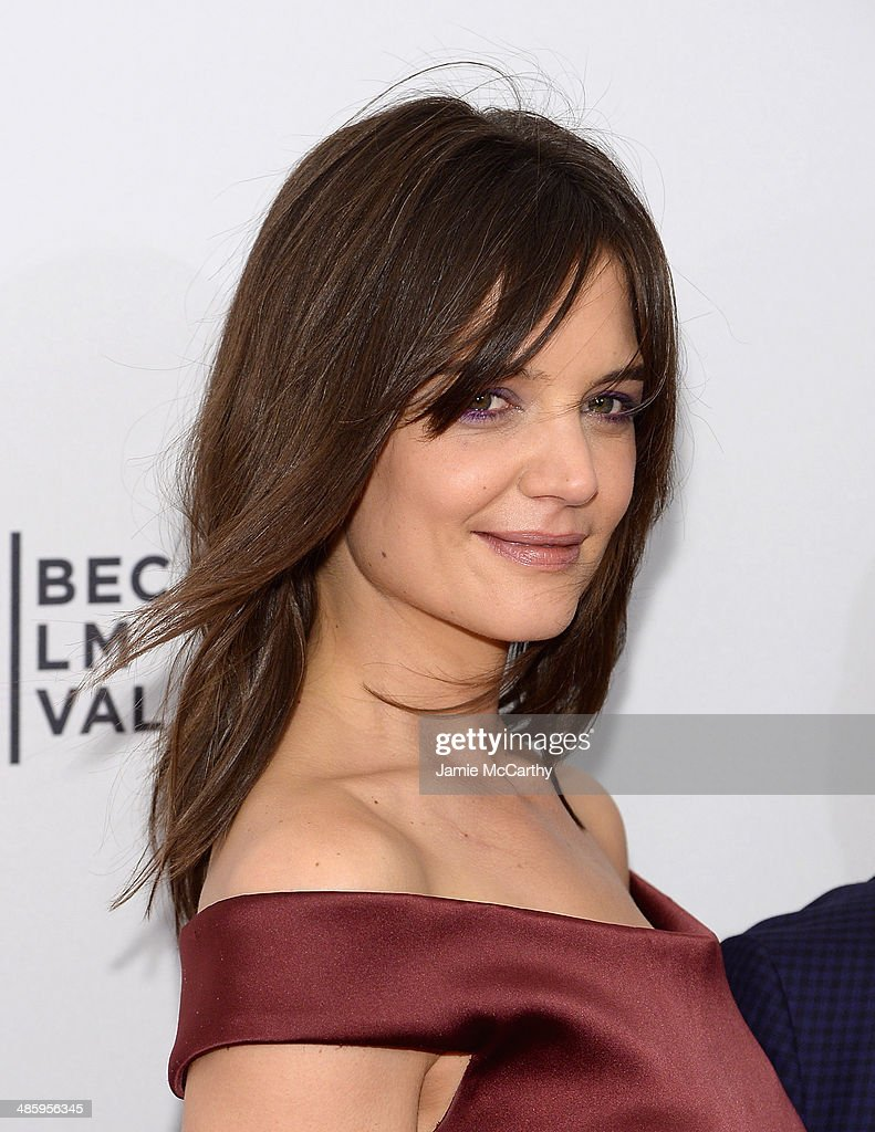 Actress <a gi-track='captionPersonalityLinkClicked' href=/galleries/search?phrase=Katie+Holmes&family=editorial&specificpeople=201598 ng-click='$event.stopPropagation()'>Katie Holmes</a> attends the 'Miss Meadows' Premiere during 2014 Tribeca Film Festival at the SVA Theater on April 21, 2014 in New York City.
