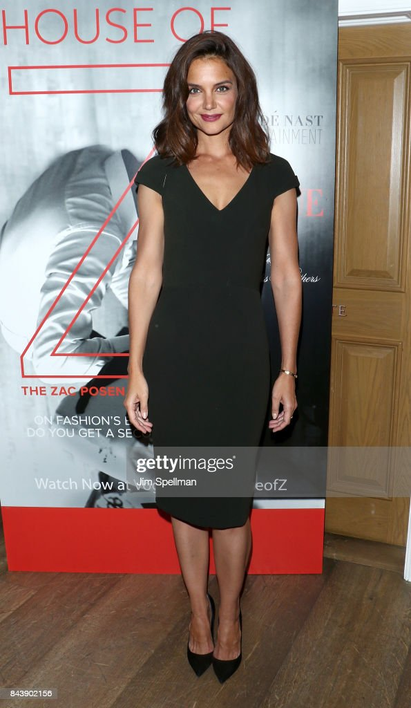 Actress Katie Holmes attends the premiere of 'House Of Z' hosted by Brooks Brothers with The Cinema Society at Crosby Street Hotel on September 7, 2017 in New York City.