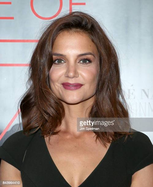 Actress Katie Holmes attends the premiere of 'House of Z' hosted by Brooks Brothers with The Cinema Society at Crosby Street Hotel on September 7...