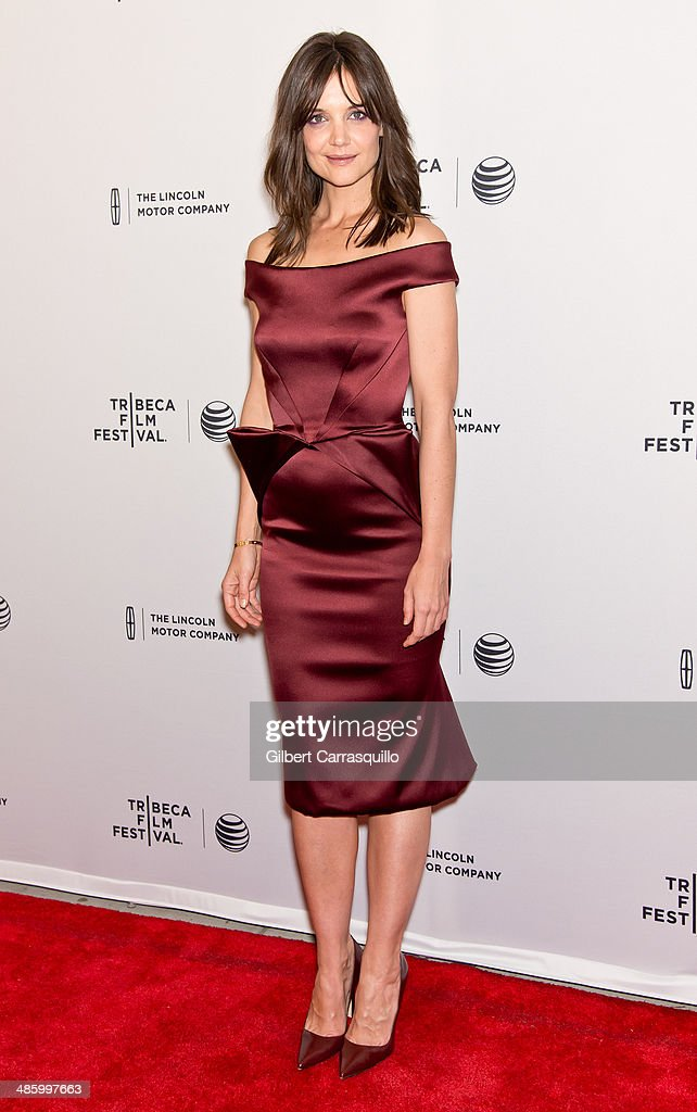 Actress <a gi-track='captionPersonalityLinkClicked' href=/galleries/search?phrase=Katie+Holmes&family=editorial&specificpeople=201598 ng-click='$event.stopPropagation()'>Katie Holmes</a> attends the screening of 'Miss Meadows' during the 2014 Tribeca Film Festival at SVA Theater on April 21, 2014 in New York City.