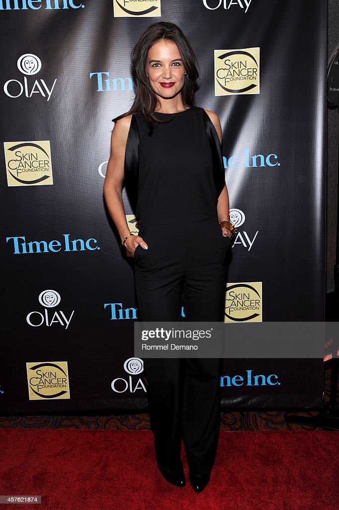 Actress <a gi-track='captionPersonalityLinkClicked' href=/galleries/search?phrase=Katie+Holmes&family=editorial&specificpeople=201598 ng-click='$event.stopPropagation()'>Katie Holmes</a> attends the Skin Cancer Foundation Gala at Mandarin Oriental Hotel on October 21, 2014 in New York City.