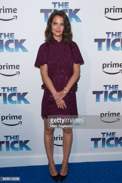 Actress Katie Holmes attends the 'The Tick' Blue Carpet Premiere at Village East Cinema on August 16 2017 in New York City