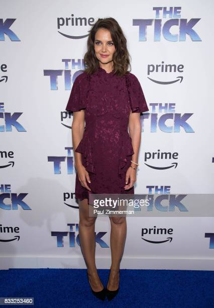 Actress Katie Holmes attends 'The Tick' Blue Carpet Premiere at Village East Cinema on August 16 2017 in New York City