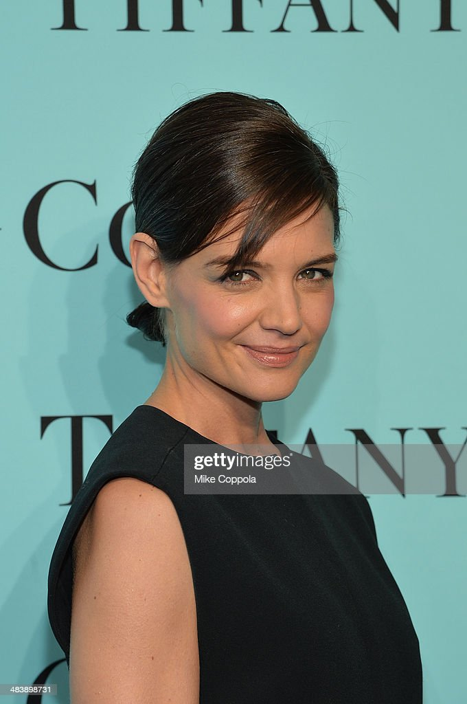 Actress <a gi-track='captionPersonalityLinkClicked' href=/galleries/search?phrase=Katie+Holmes&family=editorial&specificpeople=201598 ng-click='$event.stopPropagation()'>Katie Holmes</a> attends the Tiffany Debut of the 2014 Blue Book on April 10, 2014 at the Guggenheim Museum in New York, United States.
