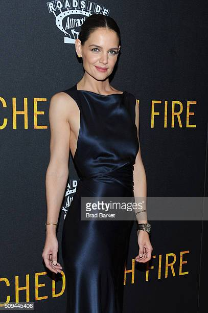 Actress Katie Holmes attends the 'Touched With Fire' New York premiere at Walter Reade Theater on February 10 2016 in New York City