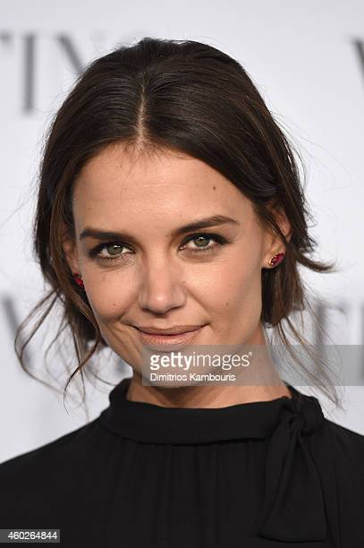 Actress Katie Holmes attends the Valentino Sala Bianca 945 Event on December 10 2014 in New York City