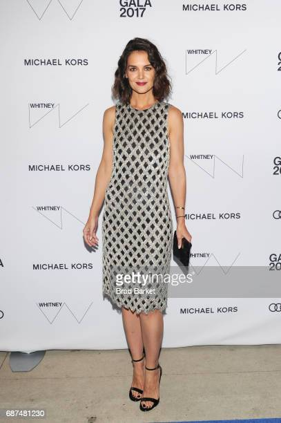 Actress Katie Holmes attends the Whitney Museum's annual Spring Gala and Studio Party 2017 sponsored by Audi and Michael Kors on May 23 2017 in New...