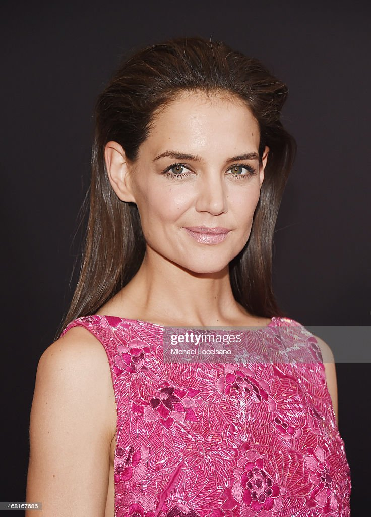Actress Katie Holmes attends the 'Woman In Gold' New York premiere at The Museum of Modern Art on March 30, 2015 in New York City.