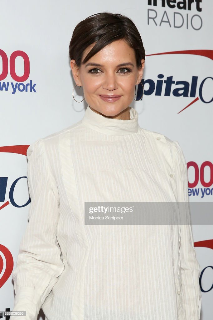 Actress Katie Holmes attends the Z100's Jingle Ball 2017 press room on December 8, 2017 in New York City.