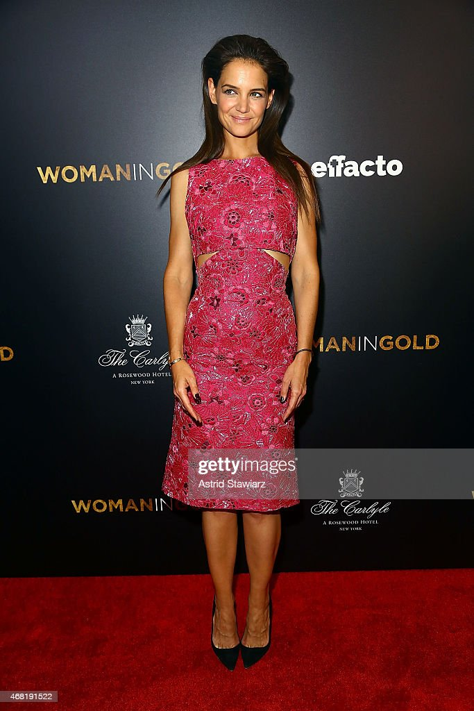 Actress Katie Holmes attends 'Woman In Gold' New York Premiere at The Museum of Modern Art on March 30 2015 in New York City