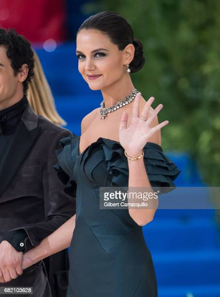 Actress Katie Holmes is seen at the 'Rei Kawakubo/Comme des Garcons Art Of The InBetween' Costume Institute Gala at Metropolitan Museum of Art on May...