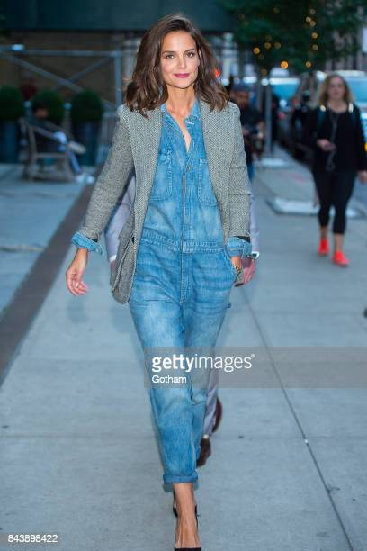 Actress Katie Holmes is seen in SoHo on September 7 2017 in New York City