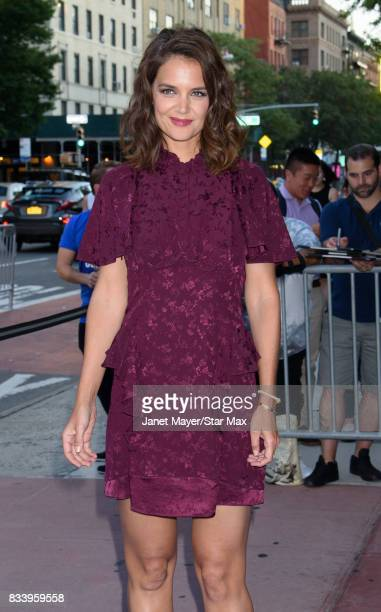 Actress Katie Holmes is seen on August 15 2017 in New York City