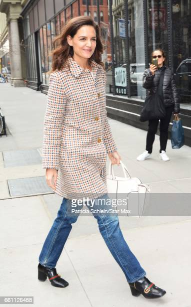Actress Katie Holmes is seen on March 30 2017 in New York City