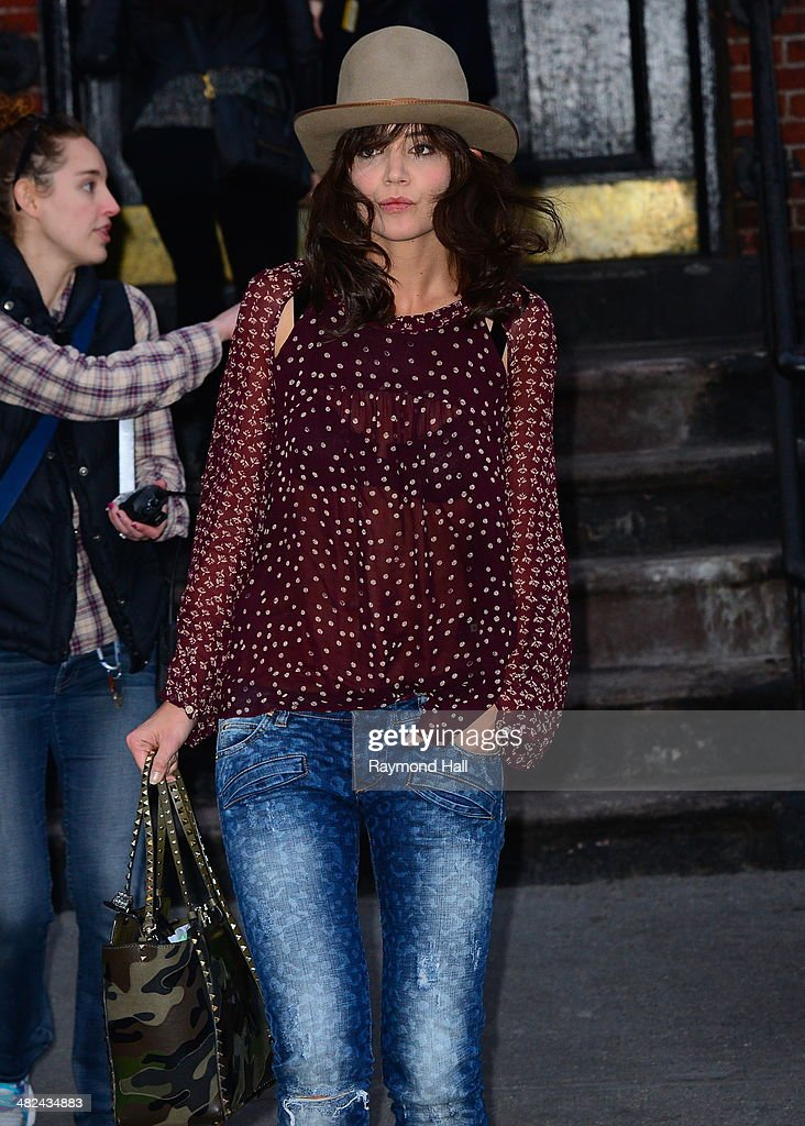 Actress <a gi-track='captionPersonalityLinkClicked' href=/galleries/search?phrase=Katie+Holmes&family=editorial&specificpeople=201598 ng-click='$event.stopPropagation()'>Katie Holmes</a> is seen on the set of 'Dangerous Liaisons'on April 3, 2014 in New York City.