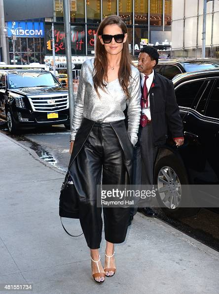 Actress Katie Holmes is seen on the set of 'Good Morning America' on July 22 2015 in New York City