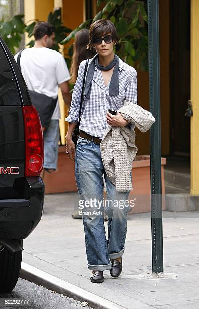 Actress Katie Holmes seen on the streets of Manhattan on August 13 2008 in New York City
