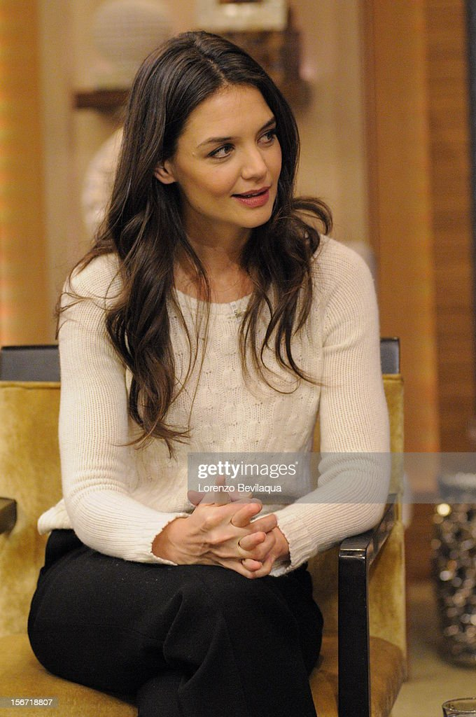 MICHAEL -11/19/12 - Actress KATIE HOLMES talks about returning to Broadway in ''Dead Accounts,' on the newly-rechristened syndicated talk show, LIVE with Kelly and Michael,' distributed by Disney-ABC Domestic Television. KATIE