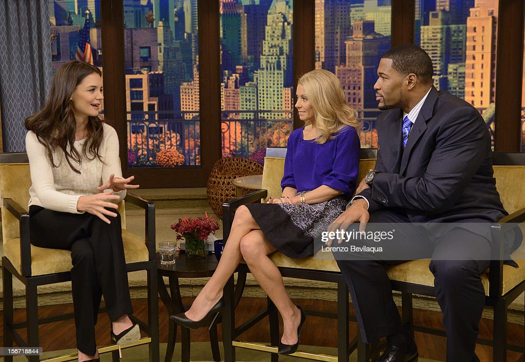MICHAEL -11/19/12 - Actress KATIE HOLMES talks about returning to Broadway in ÒDead Accounts,' on the newly-rechristened syndicated talk show, LIVE with Kelly and Michael,' distributed by Disney-ABC Domestic Television. STRAHAN