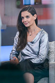 Actress Katie Holmes tapes an interview at 'Good Morning America' at the ABC Times Square Studios on July 22 2015 in New York City