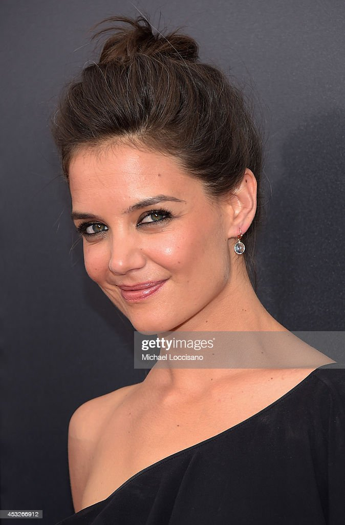 Actress <a gi-track='captionPersonalityLinkClicked' href=/galleries/search?phrase=Katie+Holmes&family=editorial&specificpeople=201598 ng-click='$event.stopPropagation()'>Katie Holmes</a>, 'The Giver', attends the The 2nd Annual Lexus Short Films 'Life is Amazing' New York premiere presented by The Weinstein Company and Lexus at SVA Theater on August 6, 2014 in New York City.