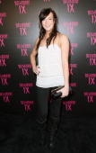 Actress Katie Kassidy arrives at the Belvedere IX Launch Party on February 5 2009 in Hollywood California