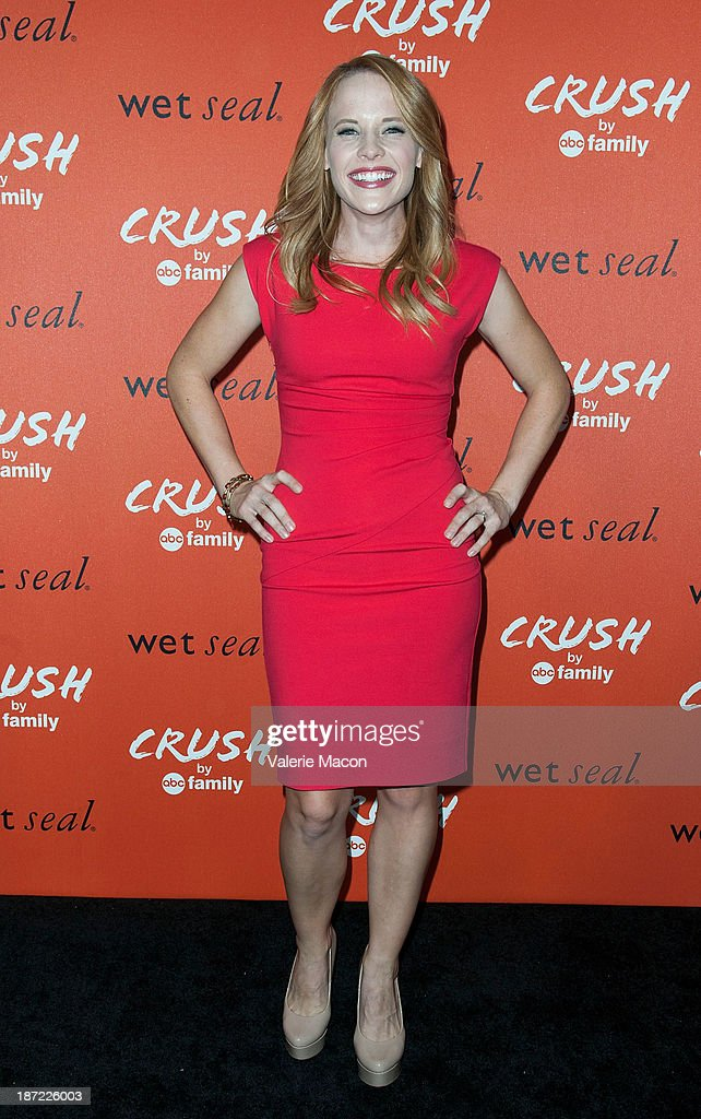 Actress <a gi-track='captionPersonalityLinkClicked' href=/galleries/search?phrase=Katie+Leclerc&family=editorial&specificpeople=7765177 ng-click='$event.stopPropagation()'>Katie Leclerc</a> arrives at the Launch Celebration Of Crush By ABC Family at The London Hotel on November 6, 2013 in West Hollywood, California.