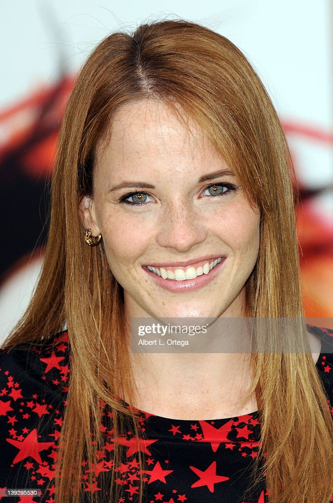 Actress <a gi-track='captionPersonalityLinkClicked' href=/galleries/search?phrase=Katie+Leclerc&family=editorial&specificpeople=7765177 ng-click='$event.stopPropagation()'>Katie Leclerc</a> arrives for 'The Muppets' Los Angeles Premiere held at the El Capitan Theatre on November 12, 2011 in Hollywood, California.