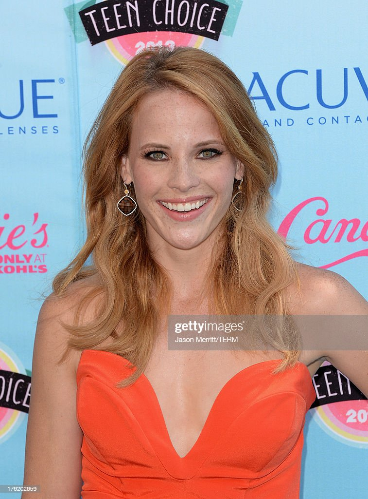 Actress Katie Leclerc attends the Teen Choice Awards 2013 at Gibson Amphitheatre on August 11, 2013 in Universal City, California.