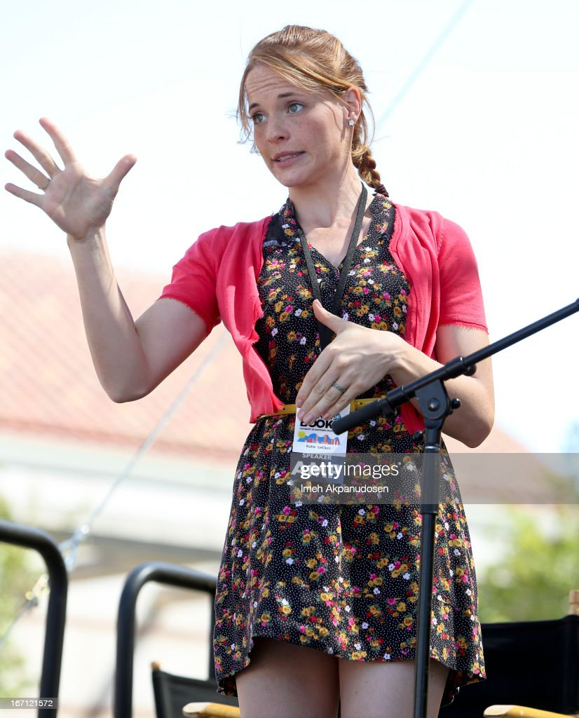 Actress <a gi-track='captionPersonalityLinkClicked' href=/galleries/search?phrase=Katie+Leclerc&family=editorial&specificpeople=7765177 ng-click='$event.stopPropagation()'>Katie Leclerc</a> performs onstage at the 18th Annual LA Times Festival Of Books at USC on April 20, 2013 in Los Angeles, California.