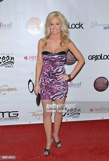 Actress Katie Lohman arrives at the 4th Annual Gridlock New Years Eve party held on the Paramount Studios lot on December 31 2009 in Hollywood...