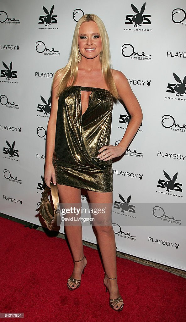 Actress Katie Lohmann attends the Playboy 55th anniversary playmate celebration at ONE Sunset on December 12, 2008 in West Hollywood, California.