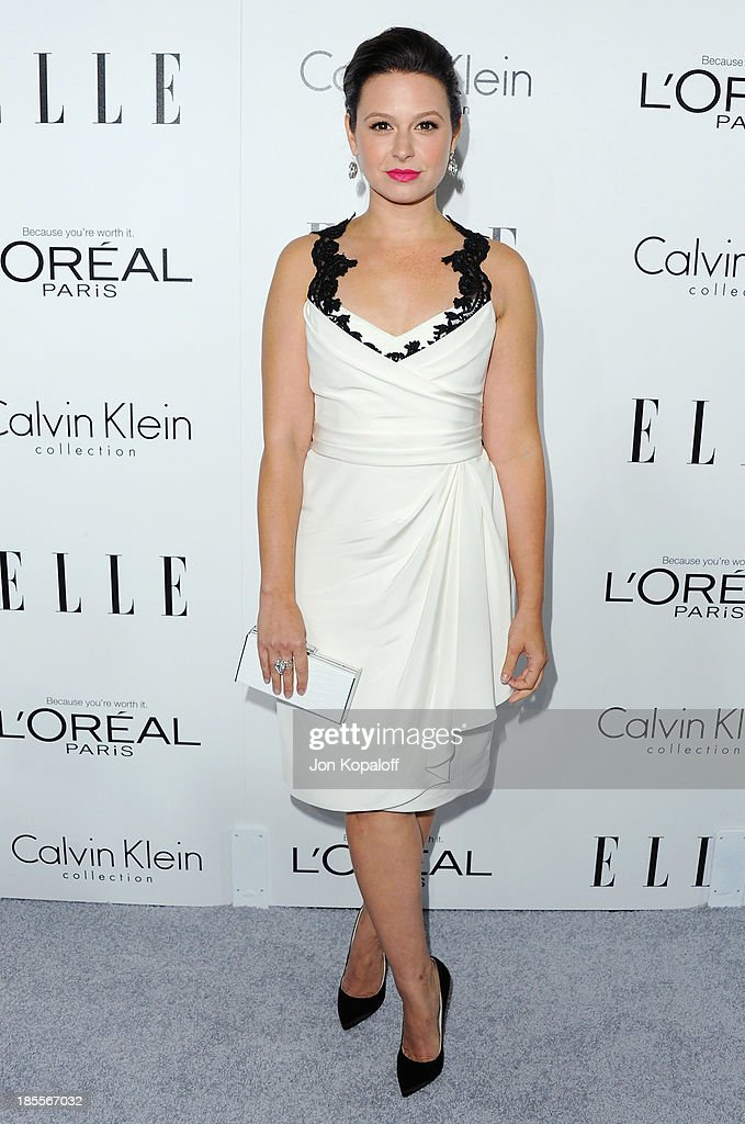 Actress <a gi-track='captionPersonalityLinkClicked' href=/galleries/search?phrase=Katie+Lowes&family=editorial&specificpeople=5527804 ng-click='$event.stopPropagation()'>Katie Lowes</a> arrives at ELLE Celebrates 20th Annual Women In Hollywood Event at Four Seasons Hotel Los Angeles at Beverly Hills on October 21, 2013 in Beverly Hills, California.