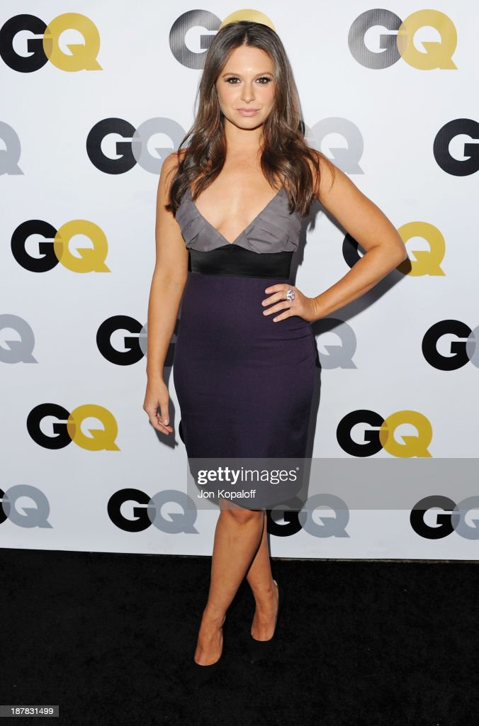 Actress Katie Lowes arrives at GQ Celebrates The 2013 'Men Of The Year' at The Wilshire Ebell Theatre on November 12, 2013 in Los Angeles, California.