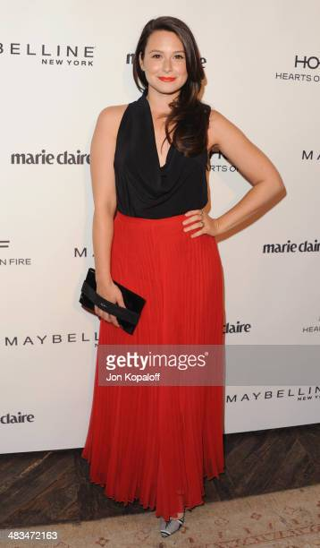 Actress Katie Lowes arrives at Marie Claire's Fresh Faces Party at Soho House on April 8 2014 in West Hollywood California
