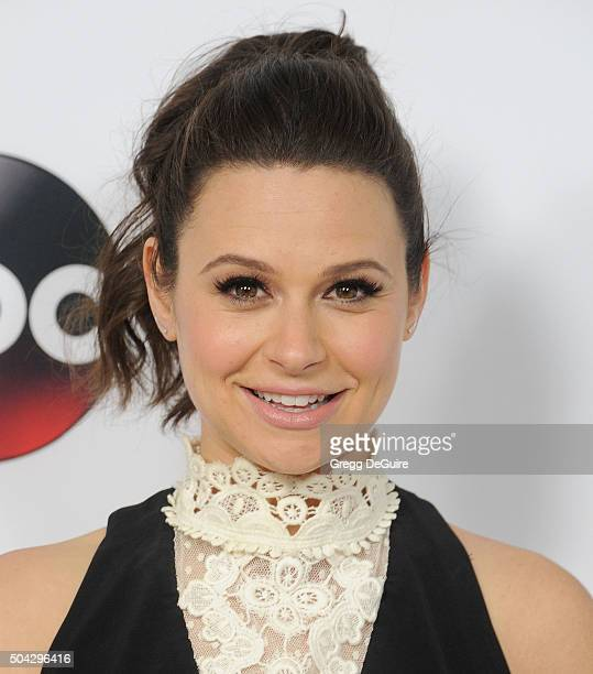Actress Katie Lowes arrives at the 2016 Winter TCA Tour Disney/ABC at Langham Hotel on January 9 2016 in Pasadena California