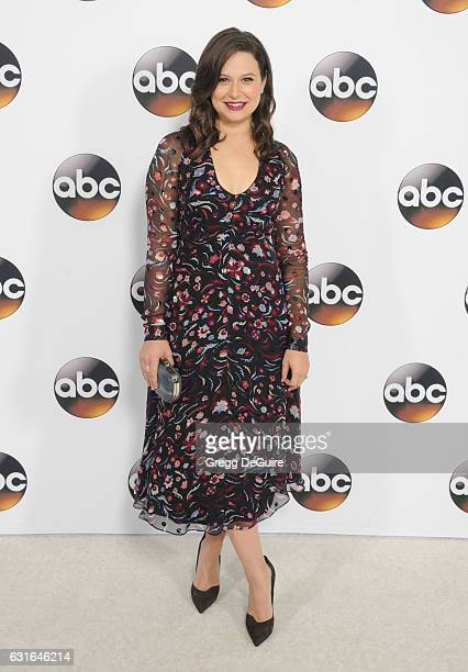 Actress Katie Lowes arrives at the 2017 Winter TCA Tour Disney/ABC at the Langham Hotel on January 10 2017 in Pasadena California