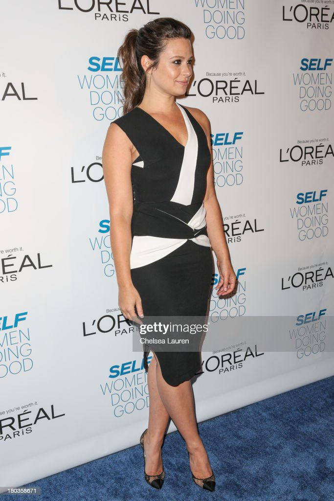 Actress Katie Lowes arrives at the 6th annual SELF Magazine's Women Doing Good Awards at Apella on September 11, 2013 in New York City.