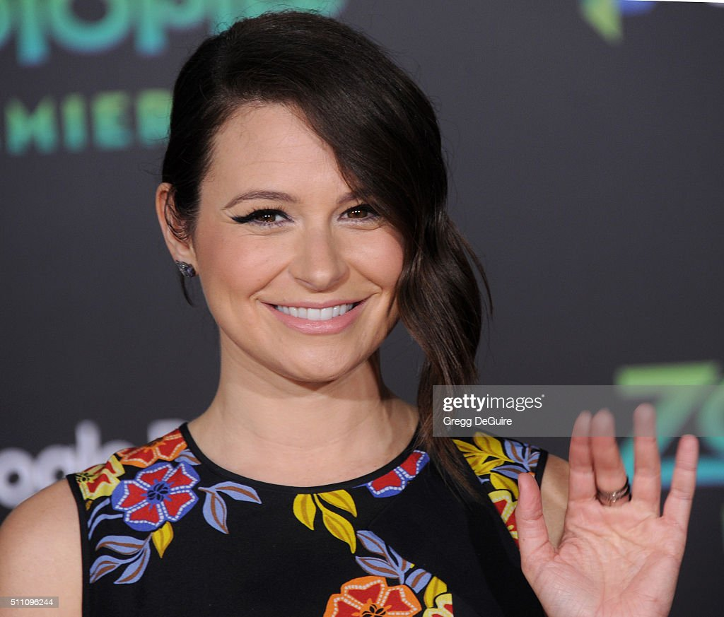 Actress Katie Lowes arrives at the premiere of Walt Disney Animation Studios' 'Zootopia' at the El Capitan Theatre on February 17 2016 in Hollywood...