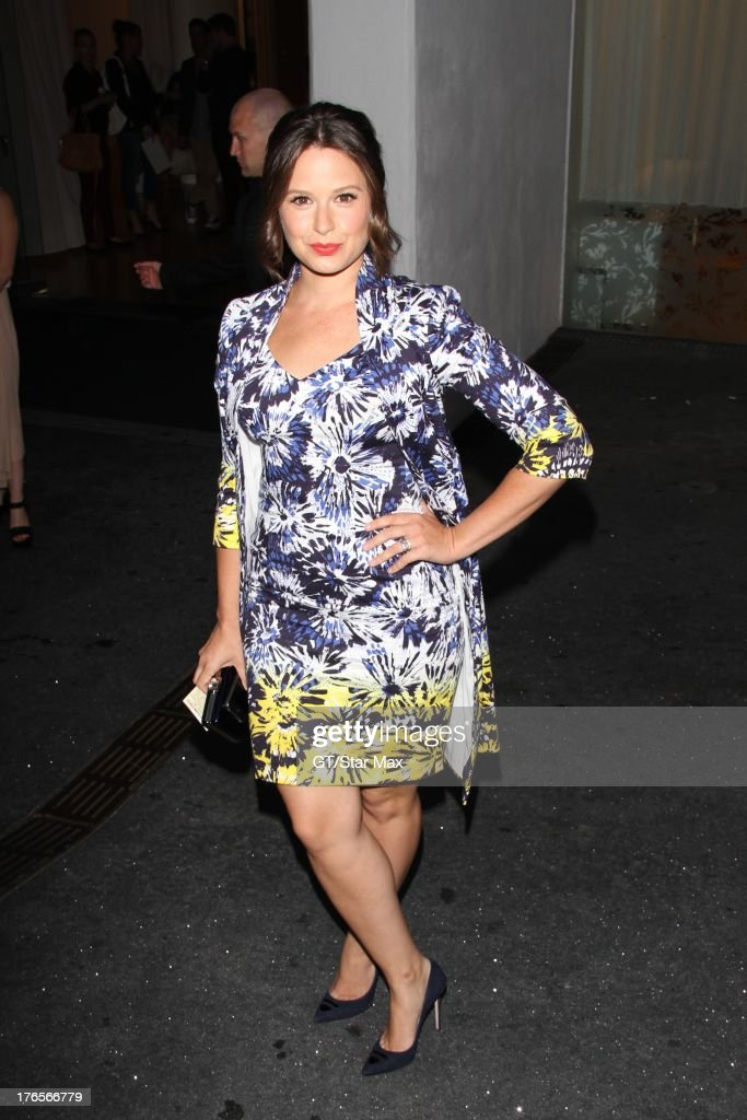 Actress Katie Lowes as seen on August 14, 2013 in Los Angeles, California.