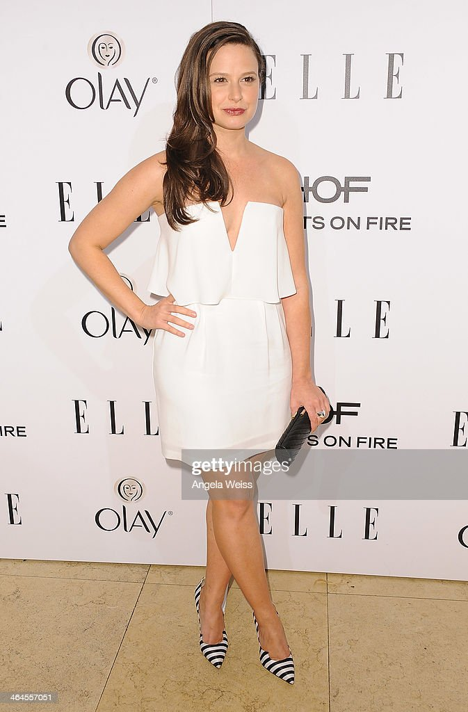 Actress Katie Lowes attends ELLE's Annual Women in Television Celebration at Sunset Tower on January 22, 2014 in West Hollywood, California.